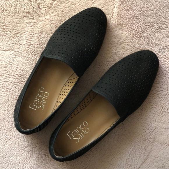 55eb77246dd Franco Sarto Shoes - Franco Sarto FARYN Black Suede Loafers Size 7.5